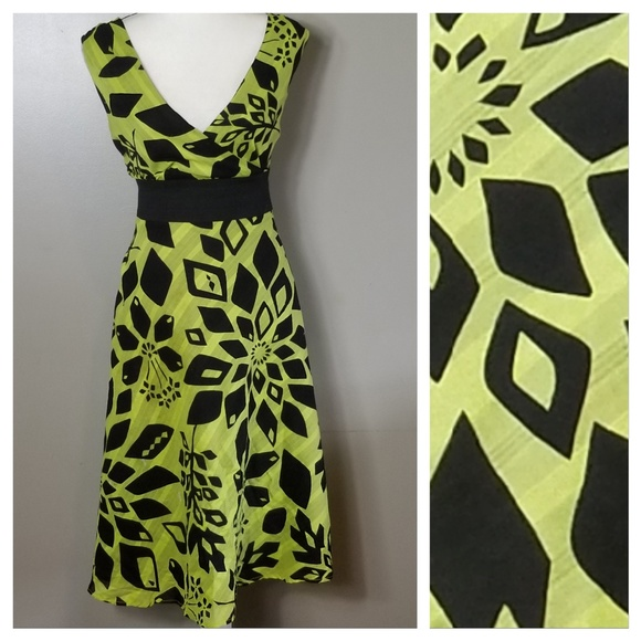 CATO WOMAN Lime Green & Black Plus Size Dress 20W